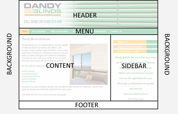 website template for our content management system